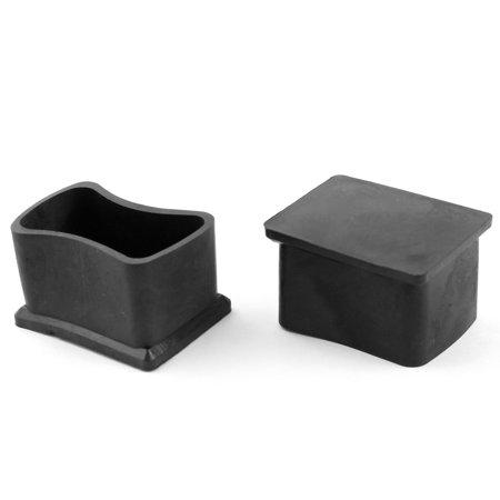 unique bargains 2pcs home chair feet ferrule rectangle black rubber