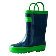 Oakiwear Kids Rain Boots For Boys Girls Toddlers Children Navy Blue