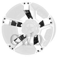 Chrome XD Series XD811 Rockstar II Inserts For 18x9 +30mm Offset Wheel