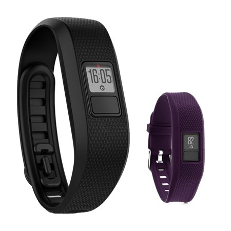 Garmin Vivofit 3 Activity Tracker Fitness Band   Regular Fit  Black  With Extreme Speed Silicone Replacement Wrist Band Strap  Purple