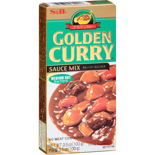 S&B Golden Curry Medium Hot Sauce Mix, 3.5 oz, (Pack of 12)