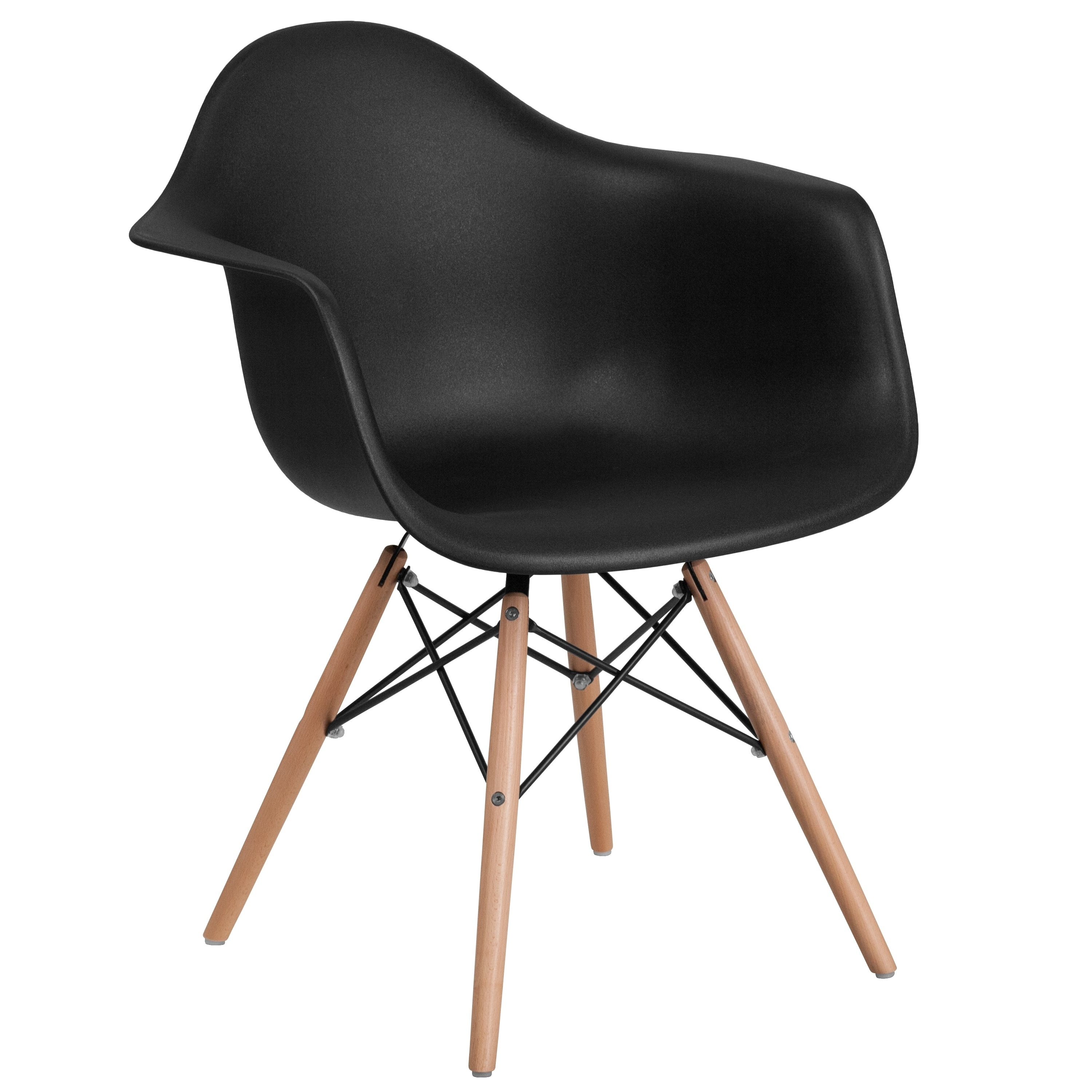 Lancaster Home Alonza Series Plastic Chair with Wood Base