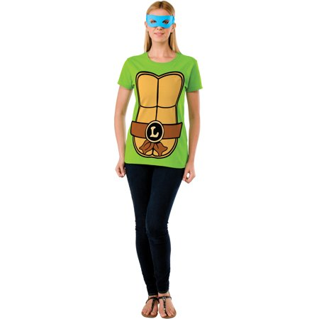 Adult Womens Teenage Mutant Ninja Turtles Leonardo T-Shirt for $<!---->