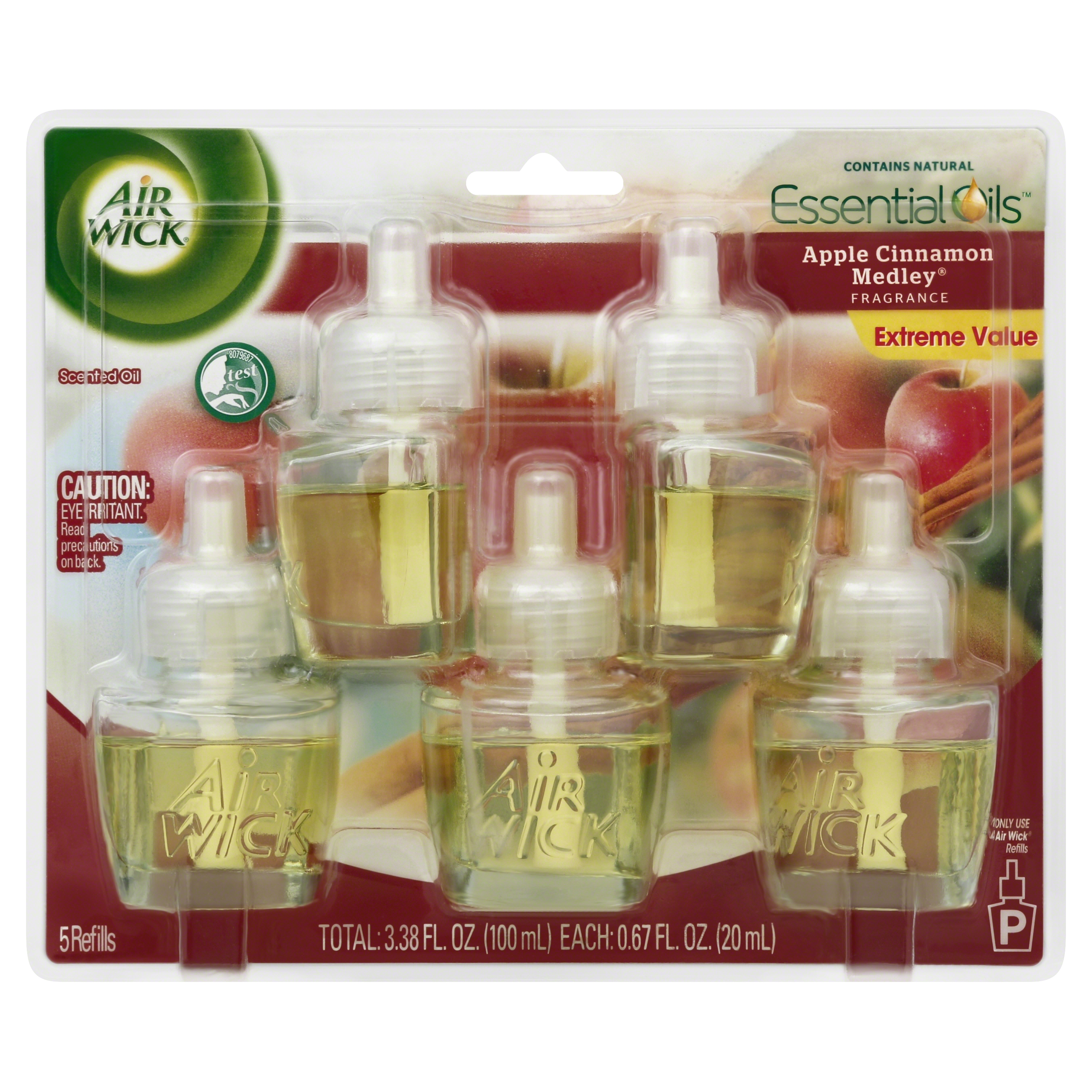 Air Wick Scented Oil - Refill Apple Cinnamon Medley 5 ct.