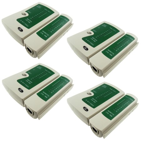 TrendBox Pack of 4 - Multifunctional Network Networking Phone Cable Tester USB UTP LAN PC Test Tool RJ11 RJ12 RJ45 CAT5 CAT6 (Networking Test)