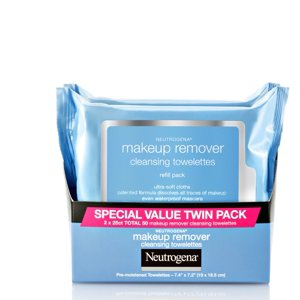 Neutrogena Makeup Remover Cleansing Face Wipes, 25 sheets, (Pack of 2)