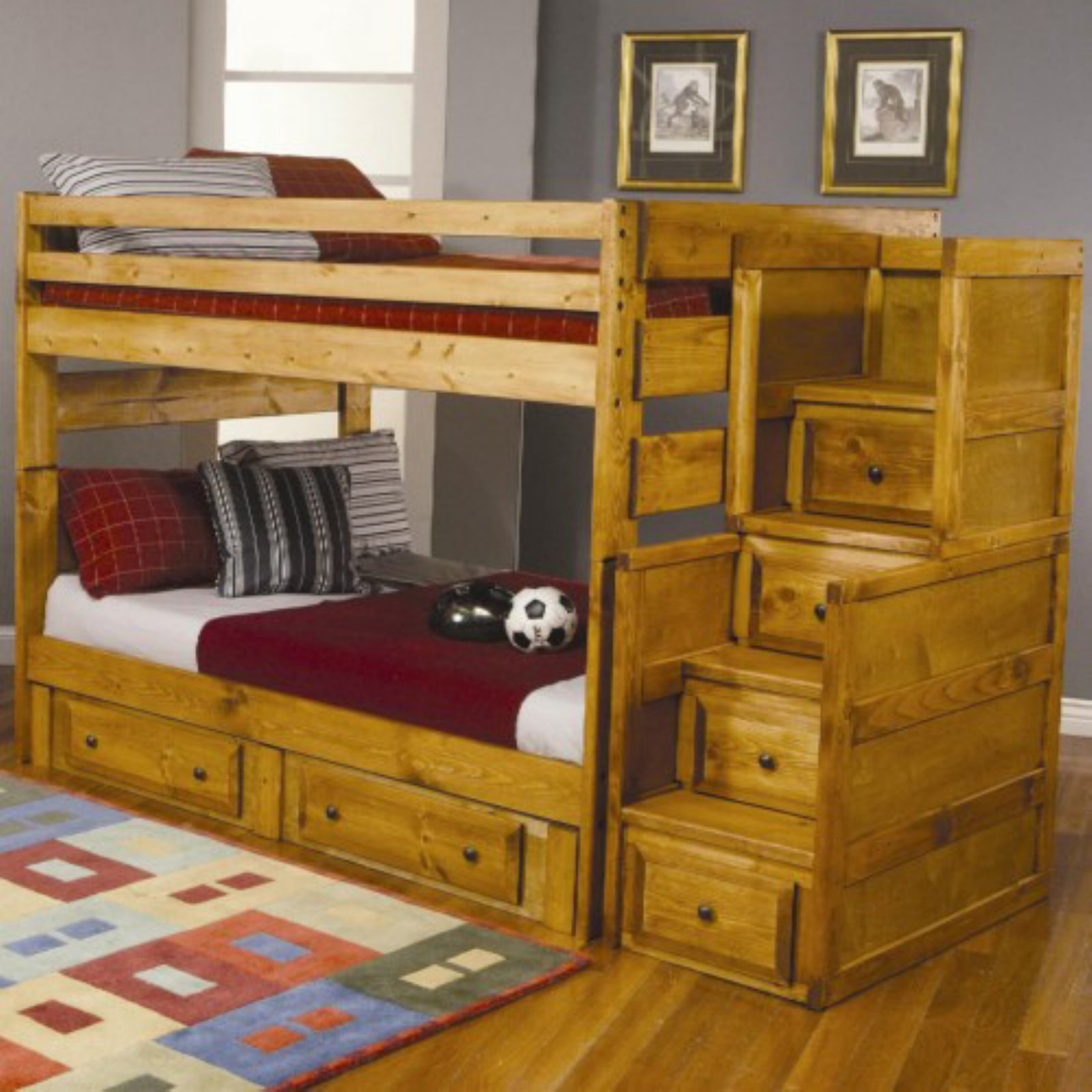Coaster Furniture Wrangle Hill Collection Full Over Full Bunk Bed