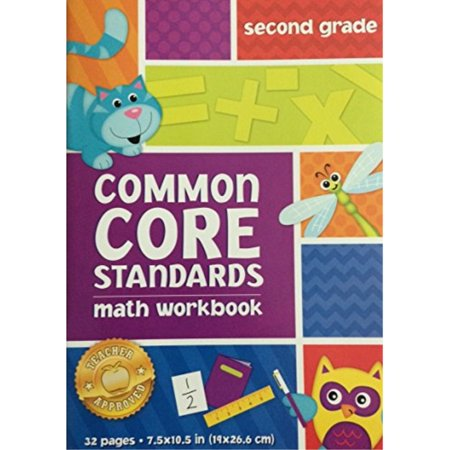 common core standards workbook (assorted, grades & subjects vary) kindergarten language arts, first grade math, second grade language arts, or third grade