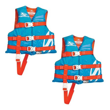 Stearns Child Nylon Life Vest, Blue/Red - Kids Fbi Vest