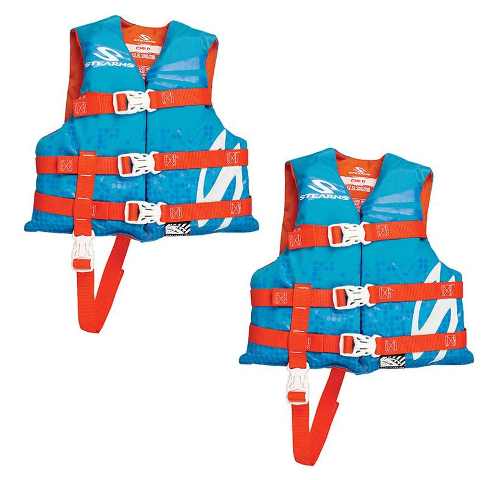 Stearns Child Nylon Life Vest, Blue/Red