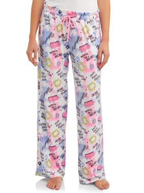 Friends Women's and Women's Plus Tie Waist Sleep Pant