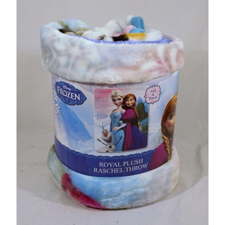 Disney Frozen Sister Seasons 40x50 Royal Plush Raschel - Raschel Plush Throw