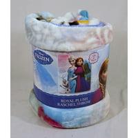 Disney Frozen Sister Seasons 40x50 Royal Plush Raschel Throw