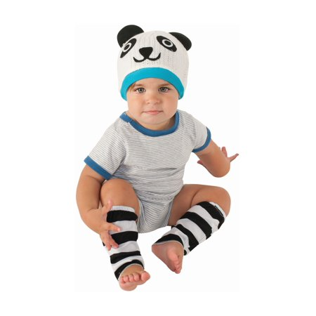Panda Bear Baby Costume Halloween Accessory Hat Leg Warmer 6?12 Months