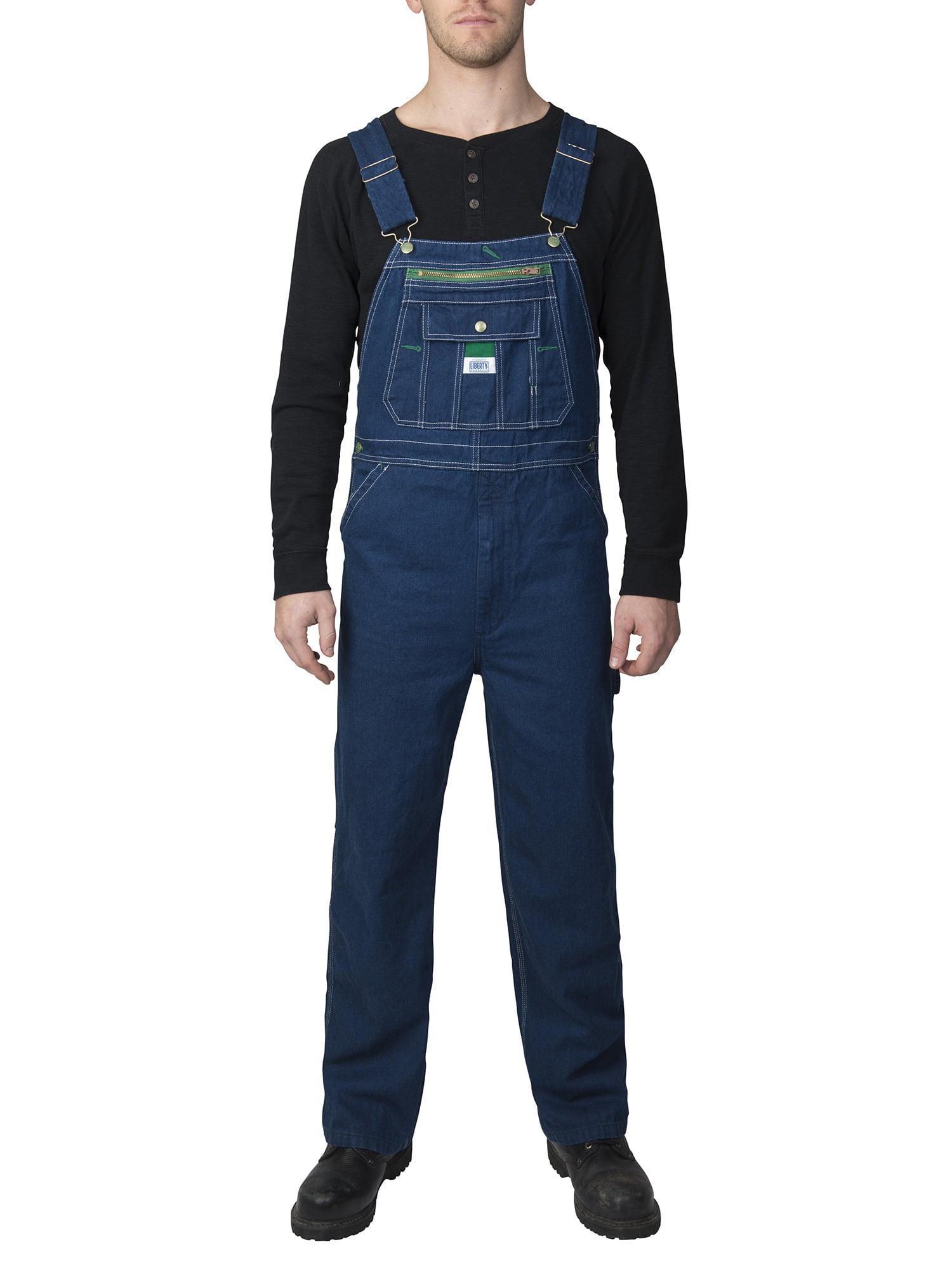 66544162 Liberty - Big Men's 100% Cotton Rigid Denim Bib Overall - Walmart.com