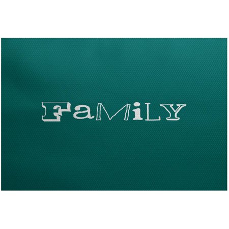 (Simply Daisy 3' x 5' Family Word Print Indoor Rug)