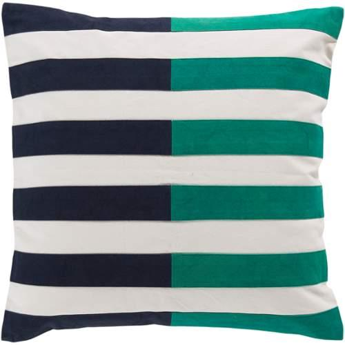 "Surya AR-132 Pillow Kit Poly Fiber Square Blue Nights 20"" x 20"" Accent Pillow"