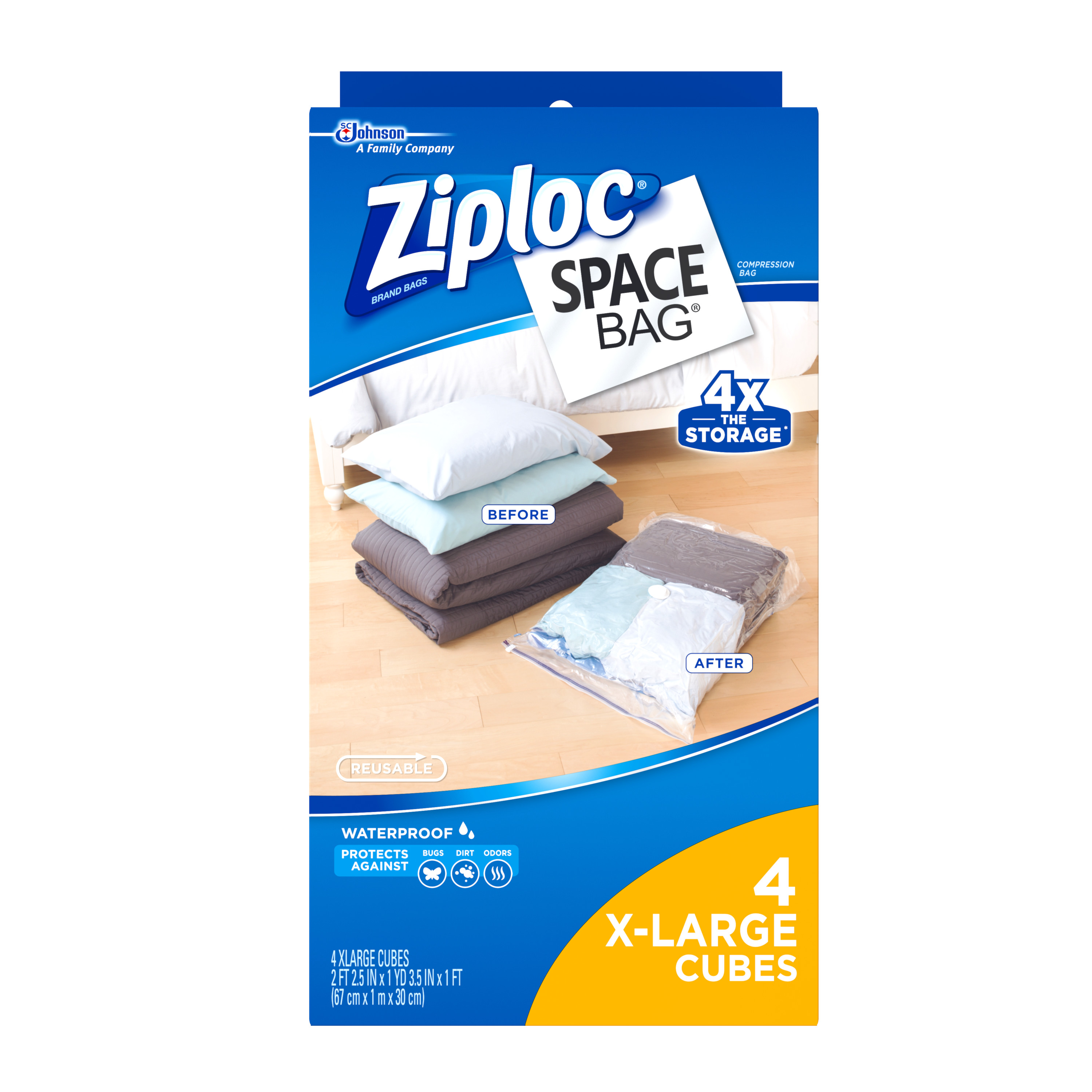 Superbe Ziploc Space Bag Cube Combo XL 4 Count