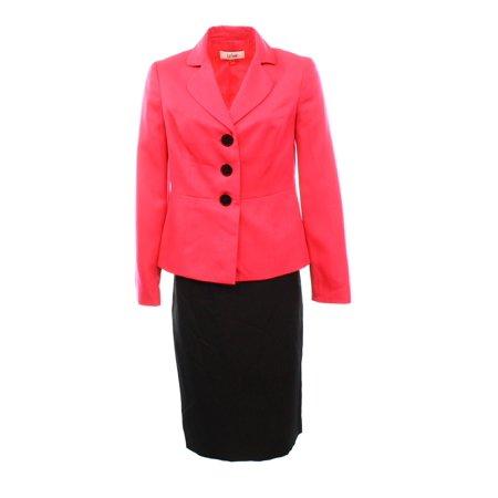 c07a6240b Le Suit - Le Suit NEW Pink Black Women s Size 18 Three-Button ...