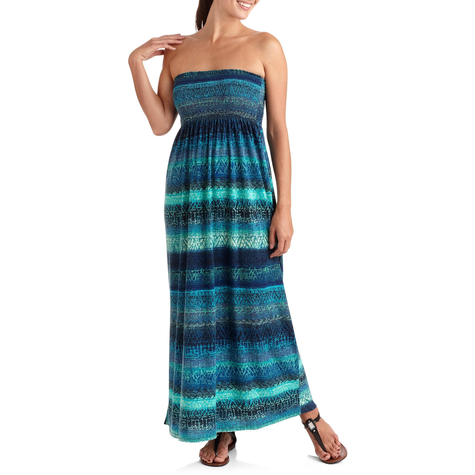 Faded Glory Women's Bree's Printed Planet Jersey Maxi Dress
