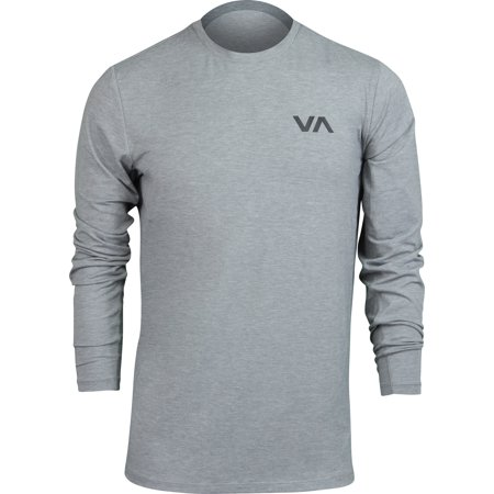 RVCA Mens VA Sport VA Vent Performance LS Shirt - Heather Gray