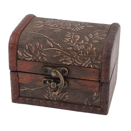 Retro Floral Carving Wooden Trinket Jewelry Storage Box Organizer](Wooden Trinket Boxes)