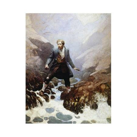 Stevenson Signed - Stevenson: Kidnapped, 1913 Print Wall Art By Newell Convers Wyeth