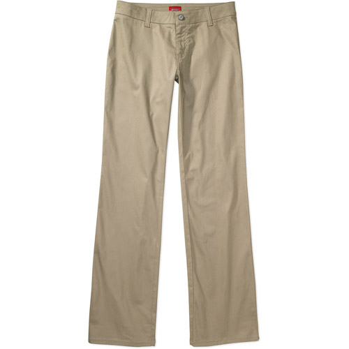 Dickies Juniors' School Uniform Stretch Twill Boot Cut Pants
