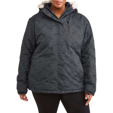 37caea2c2d7 Iceburg - Women s Plus Size Insulated Ski Jacket With Removable Hood ...