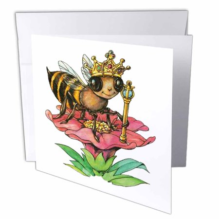 3drose bee the queen greeting cards 6 x 6 inches set of 6 3drose bee the queen greeting cards 6 x 6 inches set of 6 m4hsunfo