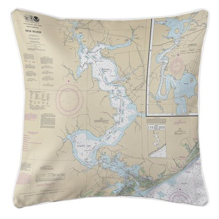 Longshore Tides Ruger Jacksonville, New River, NC Throw Pillow (Halloween Store In Jacksonville Nc)