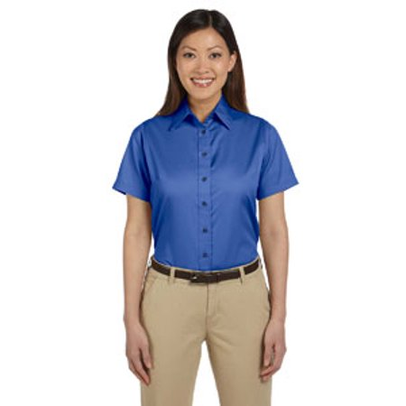 - Harriton Ladies' Easy Blend™ Short-Sleeve Twill Shirt withStain-Release