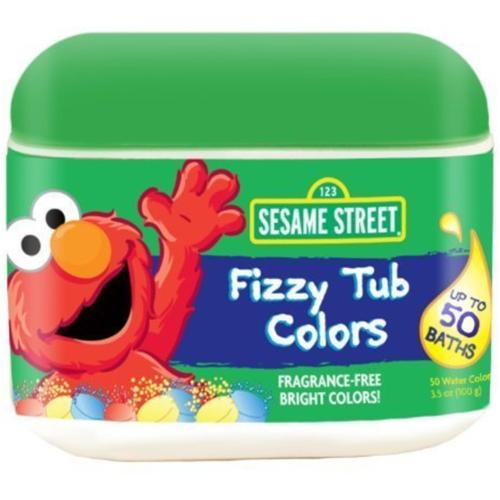 Sesame Street Fizzy Tub Colors Tablets 50 ea