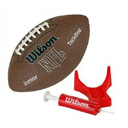 Nfl Team Logo Football - Wilson Team Sports NFL MVP Junior Football With Pump & Tee