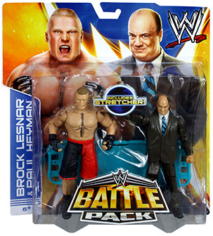 Paul Heyman & Brock Lesnar Action Figure 2-Pack Stretcher Series 25