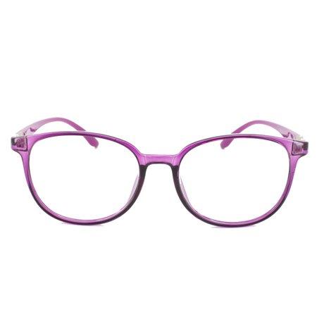 2a9158061786 Eye Buy Express Prescription Glasses Mens Womens Purple Vibrant Translucent  Rounded Retro Reading Glasses Anti Glare grade