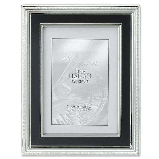 4x6 silver plated metal picture frame satin black inner panel. Black Bedroom Furniture Sets. Home Design Ideas