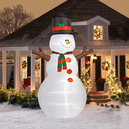 12 39 tall airblown christmas snowman infl for Airblown christmas decoration