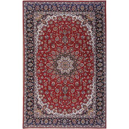 Traditional Floral Machine Made 6x10 Turkish Wool Acrylic Oriental Rug