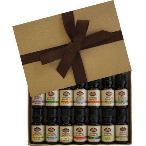 Fabulous Frannie High-Quality 14-Pack Aromatherapy Starter Gift Set of 100% Pure Therapeutic Grade 10ml Essential Oils (Eucalyptus, Grapefruit, Lavender, Lemon, Lemongrass, Lime, Patchouli, Peppermint