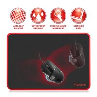 Insten Large Gaming Mouse Pad with Special-Textured Surface, Silky Smooth, Anti-Slip Rubber Base & Waterproof Coating for Laptop Computer PC Home Office