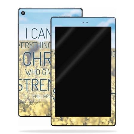 MightySkins Skin Compatible With Amazon Kindle Fire HD 10 (2017) - Cross | Protective, Durable, and Unique Vinyl Decal wrap cover | Easy To Apply, Remove, and Change Styles | Made in the