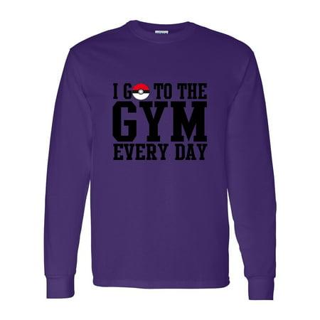 9ab4d8db9 Custom Apparel R Us - Pokemon I Go To The Gym Everyday Youth Boys Girls  Long Sleeve Tee T-Shirt - Walmart.com