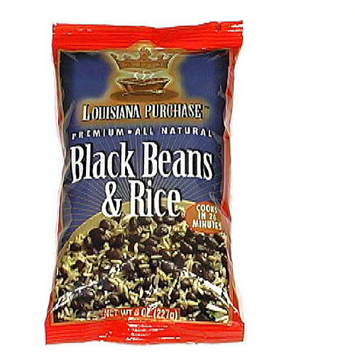 Louisiana Purchase Premium Natural Black Beans & Rice, 8 oz (Pack of 12)