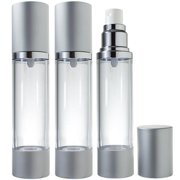 Airless Spray Bottle Silver Matte - 1.7 oz (3 Pack)