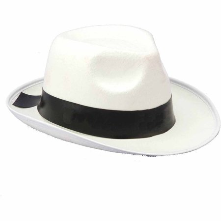 White Gangster Hat Adult Halloween Costume Accessory for $<!---->