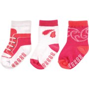 Newborn Baby Girl Paisley Collection Socks 3-Pack