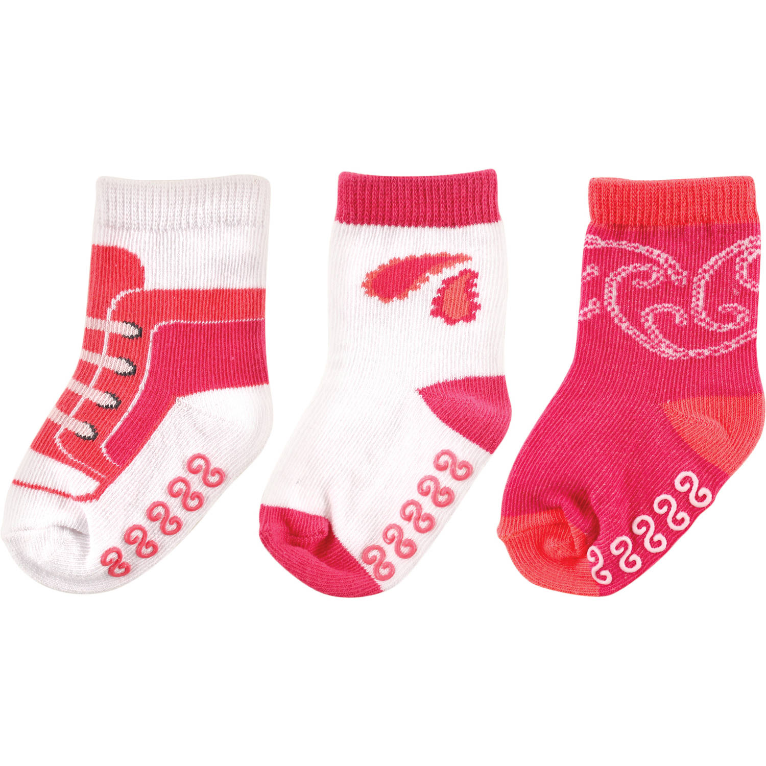 Yoga Sprout Newborn Baby Girl Paisley Collection Socks 3-Pack