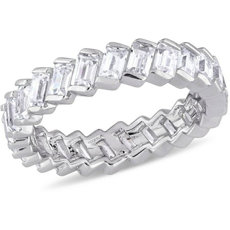 2-3/4 Carat T.G.W. Baguette-Shaped Cubic Zirconia Sterling Silver Anniversary Ring