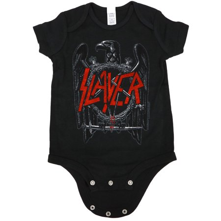 (Slayer Baby Infant Black Eagle Creeper Black)